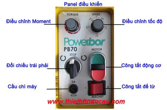 Bảng điều khiển của máy ta rô đế từ Model: PB70
