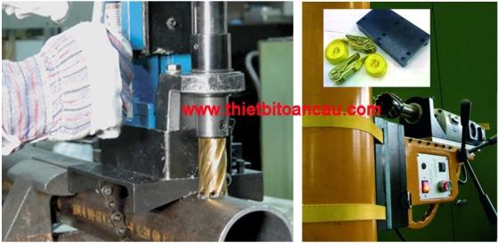 Đồ gá dành cho máy khoan trên cao hoặc trên ống thép